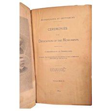 Pennsylvania At Gettysburg Ceremonies of the Dedication of the Monuments 1893  Volume 2 Only