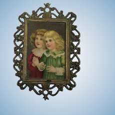 Miniature Lithograph Print for Dolls House.