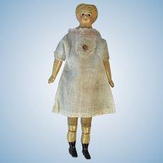19th Century Papier Mache, Cloth Bodied German Doll.