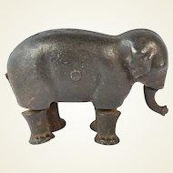 Cast Metal Walking Elephant Toy