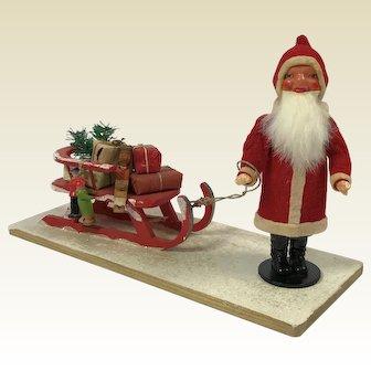 German Santa on Sleigh Candy Box C. 1950