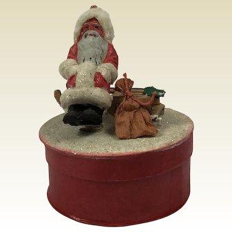 Father Christmas Candy Box. German. C.1950.