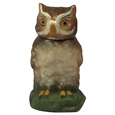 Vintage Paper Mache Owl Candy Box. Germany C.1930