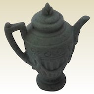 Beautiful Old Bisque Coffee Pot, Water Pitcher for Doll house.