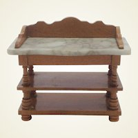 19th Century Antique German, Marble Top Buffet for Dollhouse.