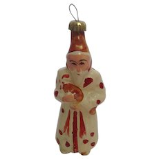 German Antique Lauscha Glass Santa Clause Christmas Tree Ornament.