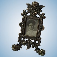 Antique Dolls House Picture Frame, Miniature Portrait Photograph. French.