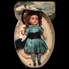 "7 inches"" Antique Little Sweet Beautiful ""Simon & Halbig Kammer & Reinhardt"" mignonette doll KR all bisque."