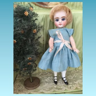 Rare French Mademoiselle Mignonette with white Painted Socks 17 cm 7 inch