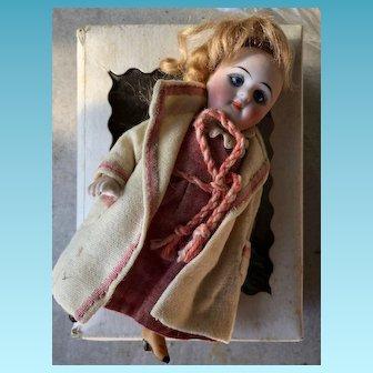 Large Kestner all bisque mignonette doll Mignonette Kestner. Marked 208. Size 5,5 inches or 14 cm