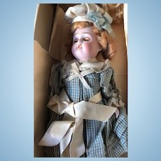 Large Simon Halbig all bisque mignonette doll Mignonette Marked 208. Size 5,5 inches or 14 cm