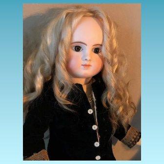 "Model "" Bougoin "" Pressed Bisque Doll Steiner Jules Paris Antique ORIGINAL French Porcelain Bisque Head 22 Inches Circa 1878 Sie C"
