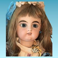 Very Rare two rows of teeth  Large French 31 inch  Bisque Bebe doll by Gaultier. original Gaultier body.