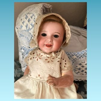 Antique French Doll SFBJ 236 Character Baby Laughing Jumeau Blue Eyes