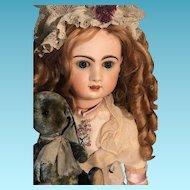 Rare French PARIS Bebe Louvre Jumeau poupee Bisque Head doll 70 cm 27 inches