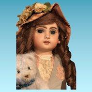 Rare French PARIS Jumeau poupée Bisque Head doll 50 cm 19 inches