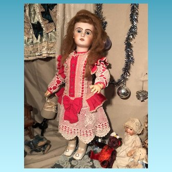 Pretty French Bebe Jumeau Open mouth. 65 Cm Walking Doll Rare