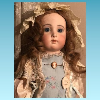 """Gorgeous French Bisque Bebe Triste by Emile Jumeau size 12 25"""""""