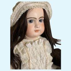 Antique ORIGINAL French  Tete Jumeau Porcelaine Bisque Head doll closed mouth