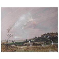 Don Hornberger (American) Landscape Painting — Acrylic on Mylar, LISTED ARTIST