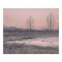 Robert Hamblen (American, 20th Century) Landscape Painting — Oil on Masonite, LISTED ARTIST