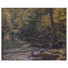 "Robert J. Seifert (American) ""Majestic Hideaway"" Landscape Painting, New Hope PA School  — Oil on Canvas, LISTED ARTIST"