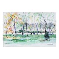 Howard Noel Watson (American 20th Century) Landscape Painting — Watercolor — Accomplished Philadelphia PA Artist, LISTED ARTIST