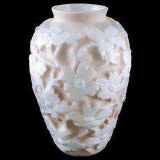"""Consolidated Art Glass """"Dogwood"""" Vase by Designer Reuben Haley, c.1926 — Art Moderne - Red Tag Sale Item"""
