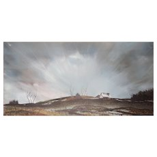 LISTED ARTIST Don Hornberger (American) Landscape Painting — Acrylic on Mylar / Masonite