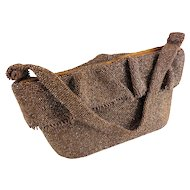 Art Deco Carnival Glass Copper Bronze Beaded Purse/Handbag — Hand Beaded c.1940s