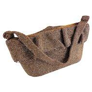 Art Deco Carnival Glass Copper Bronze Beaded Purse/Handbag — Hand Beaded c.1940s