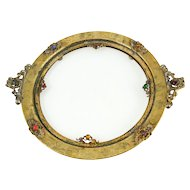 Apollo Studios NYC Gold Ormolu Jeweled Vanity Tray for Ovington Brothers — FINE & RARE c.1920s