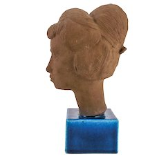 "Royal Copenhagen Bust ""Lizzie"" by Johannes Hedegaard (1915-1999). Signed. Danish. Mid-Century"