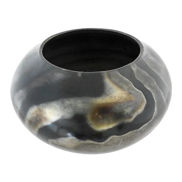 Andrew Baird (American 1946-) Metallic Black Hand-Polished Ceramic Pot - Signed & Numbered.