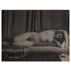 Raymond Van Doren (1906-1991) Female Nude — Original Silver Print B&W Photograph