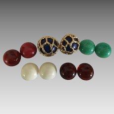 Crown Trifari Interchangeable Earrings