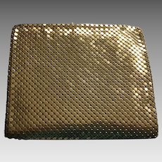 Vintage Gold-tone Metal Mesh Wallet - Made in Belgium