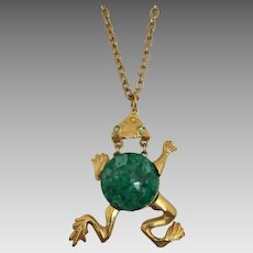 Lively Leaping Frog Necklace