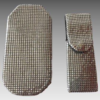 Vintage Mesh Eyeglass Case and Nail File Case