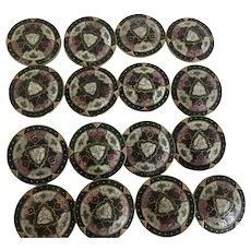 16 Japanese Cloisonne Buttons