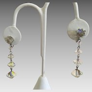 Vintage Rivoli Crystal Dangle Earrings