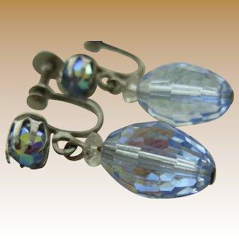 LAGUNA Blue Crystal Drop Earrings