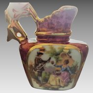 Limoges Fragonard Transferware Porcelain Miniature Pitcher