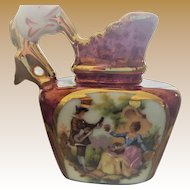 Limoges Fragonard Transferware Porcelain Miniature Pitcher
