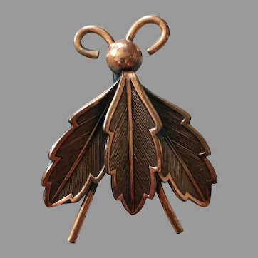 Copper Bell Fly Pin