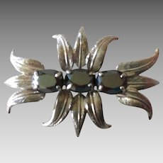 Sterling Hematite Pin