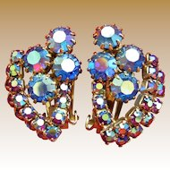 Signed Alice Caviness Blue Earrings