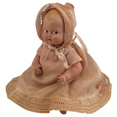 """Vintage Celluloid Googly Baby Doll ~All Original ~ 7.5""""~ Painted Eyes"""