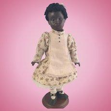 "All bisque Artist Doll~ Black child~ 11.5"" ~Darling~"