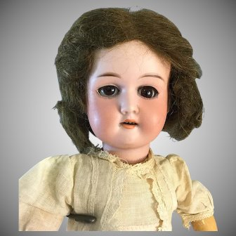 "14"" Flora Dora A.M~ Original dress & wig- Lovely condition~German Bisque socket head doll"